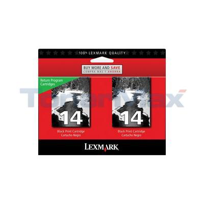 LEXMARK Z2300 RP NO.14 PRINT CART BLACK